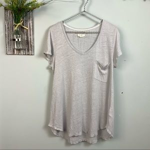 Pure + good by Anthropologie linen T-shirt M
